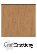Craft Emotions CraftEmotions linnenkarton  mokka 30,0x30,0cm