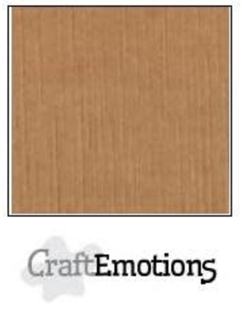 CraftEmotions linnenkarton  mokka 30,0x30,0cm