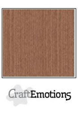 Craft Emotions CraftEmotions linnenkarton  terra bruin 30,0x30,0cm