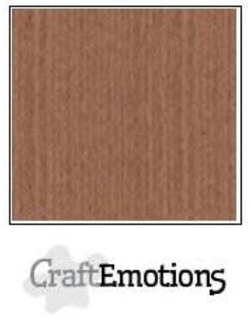 CraftEmotions linnenkarton  terra bruin 30,0x30,0cm