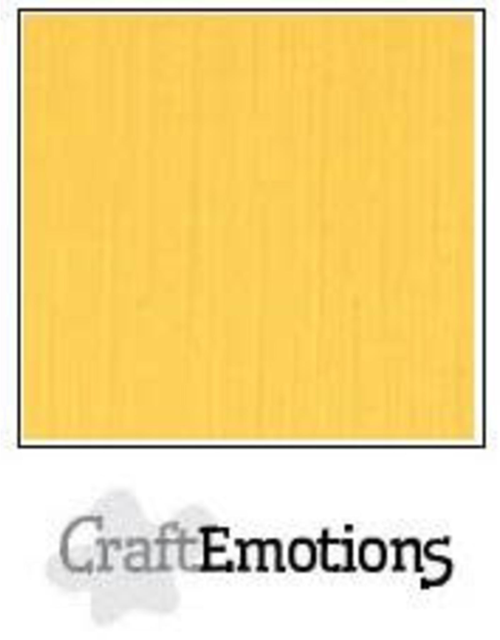 Craft Emotions CraftEmotions linnenkarton goudgeel 30,0x30,0cm