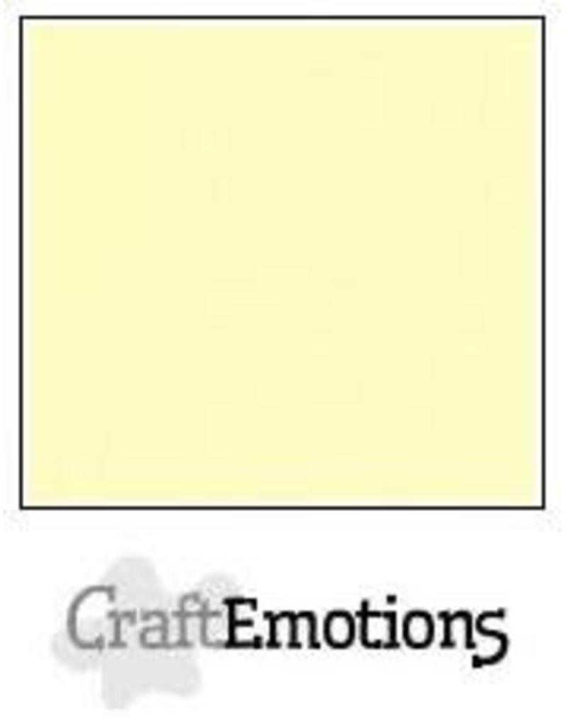 CraftEmotions linnenkarton 10 vel geel 30,0x30,0cm