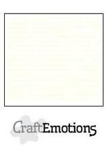 CraftEmotions linnenkarton gebroken wit 30,0x30,0cm