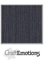 CraftEmotions linnenkarton 10 vel antraciet 30,0x30,0cm