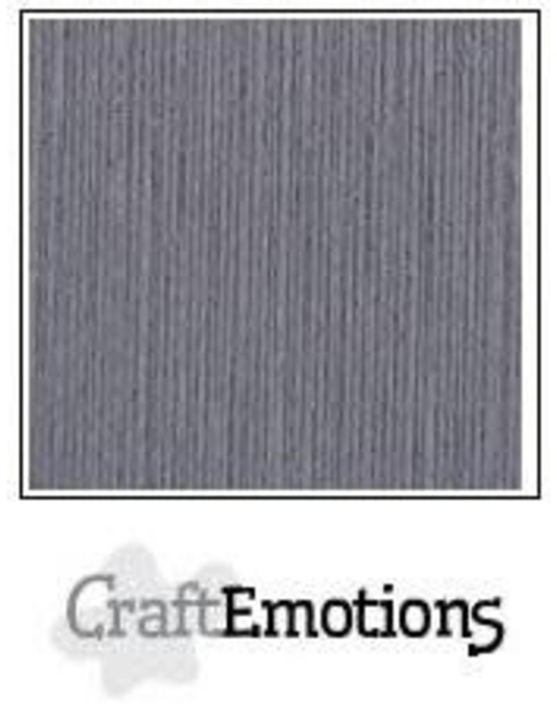 CraftEmotions linnenkarton 10 vel graniet grijs 30,0x30,0cm