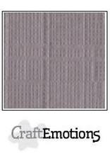 CraftEmotions linnenkarton  zilvergrijs 30,0x30,0cm