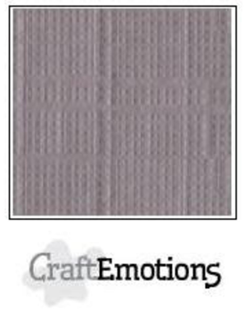 CraftEmotions linnenkarton 10 vel zilvergrijs 30,0x30,0cm