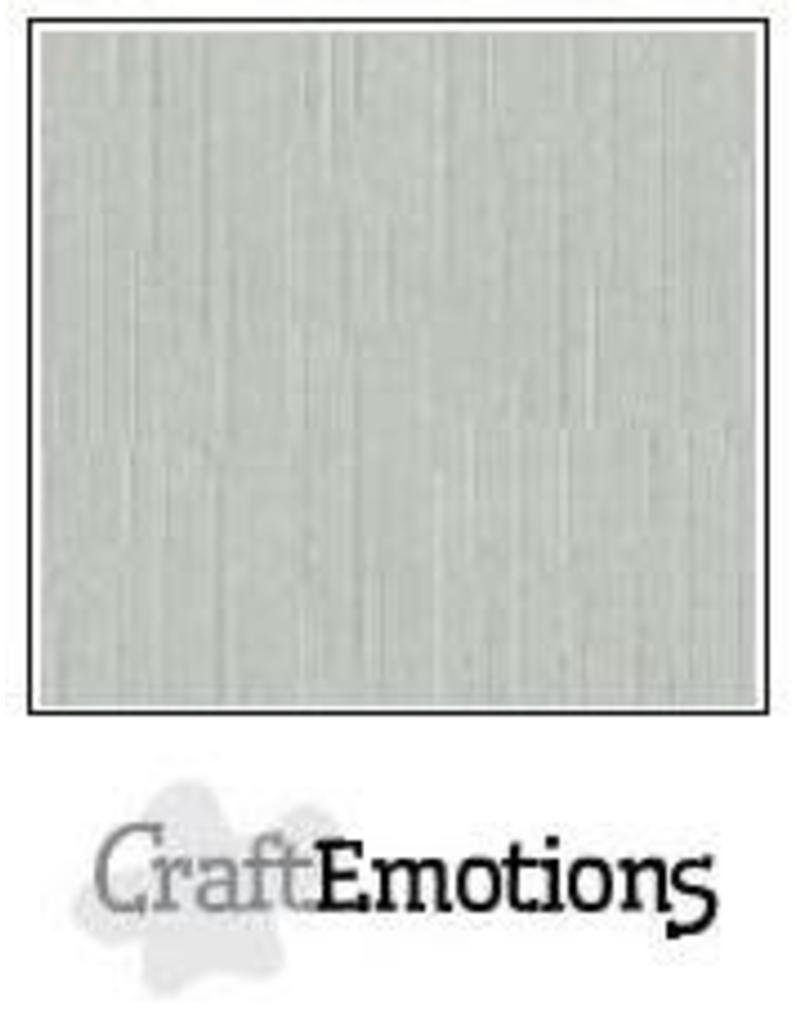 CraftEmotions linnenkarton  titanium 30,0x30,0cm