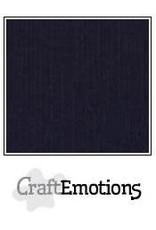 CraftEmotions linnenkarton zwart 30,0x30,0cm