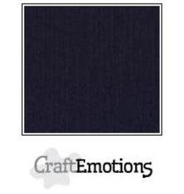 Craft Emotions CraftEmotions linnenkarton zwart 30,0x30,0cm