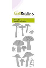 CraftEmotions Die - diverse paddenstoelen Card 5x10cm