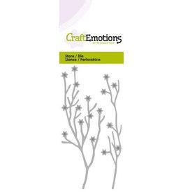 Craft Emotions CraftEmotions Die - 2 takken met sterren Card 5x10cm