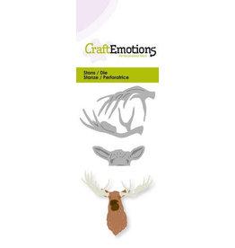 CraftEmotions Die - kop eland 3D Card 5x10cm