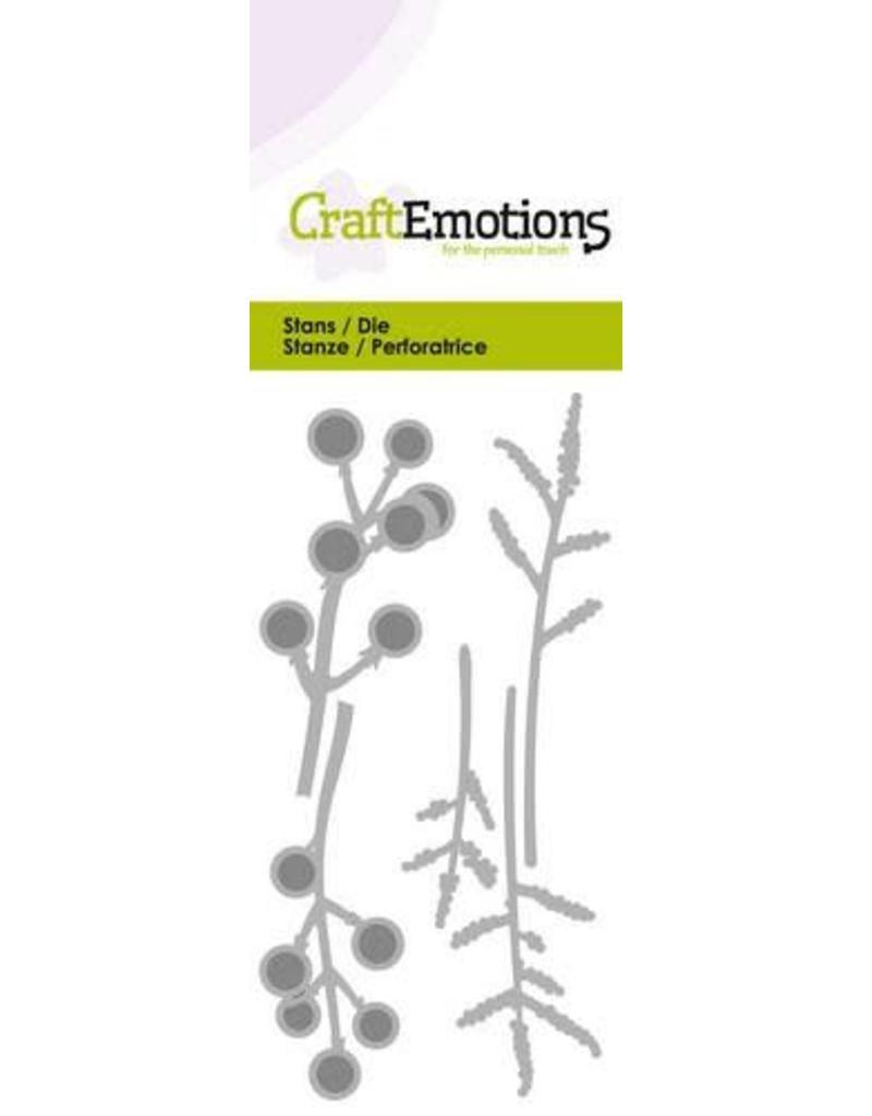Craft Emotions CraftEmotions Die - bessen takjes Card 5x10cm