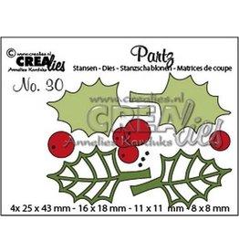 Crealies Partz no. 30 hulstblaadjes + besjes CLPartz30 25 x 43 mm - 8 x 8 mm