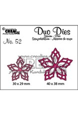 Crealies Duo Dies no. 52 bloemen 23 CLDD52 30 x 29 mm - 40 x 38 mm