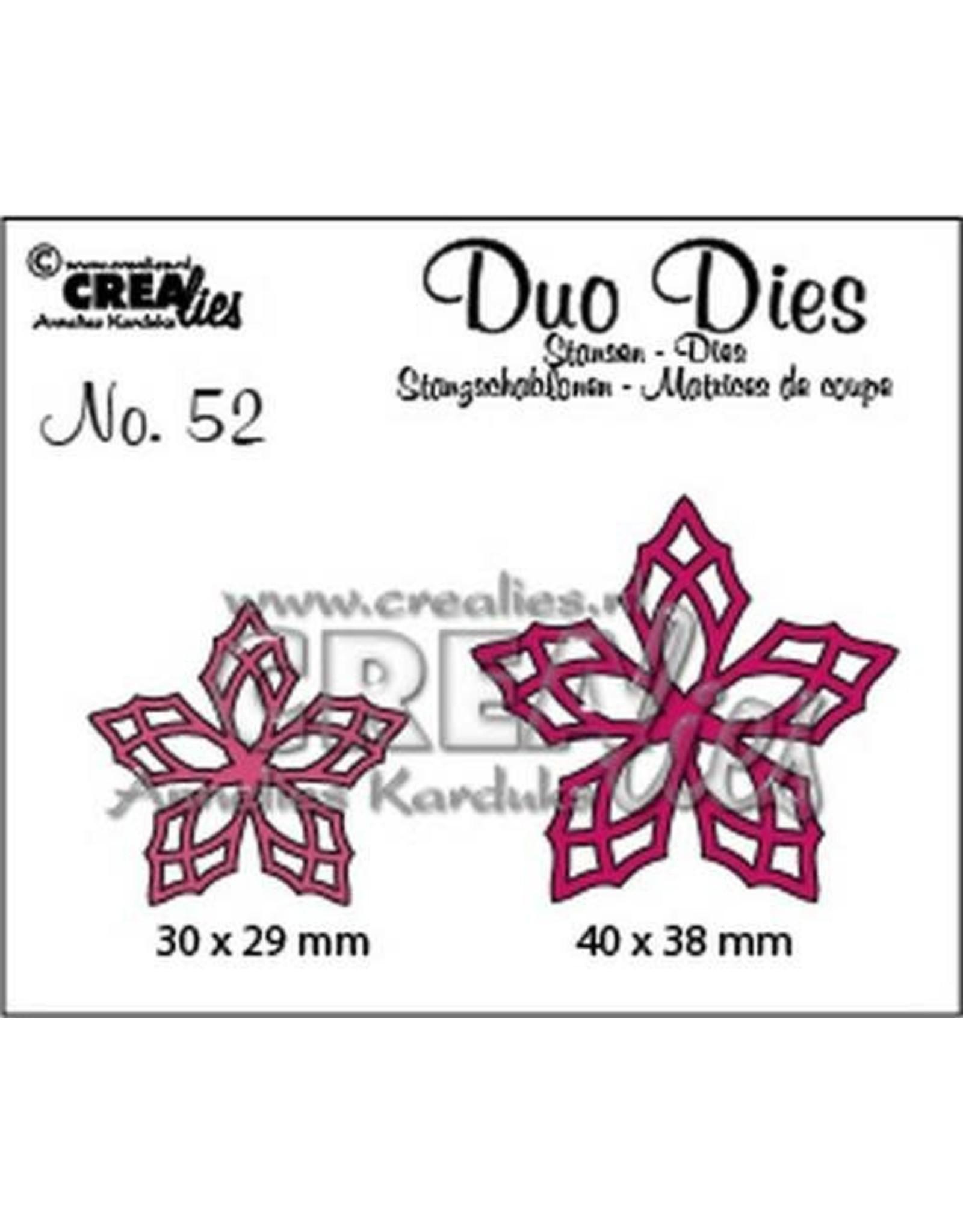 Crealies Duo Dies no. 52 bloemen 23 CLDD52 30 x 29 mm - 40 x 38 mm
