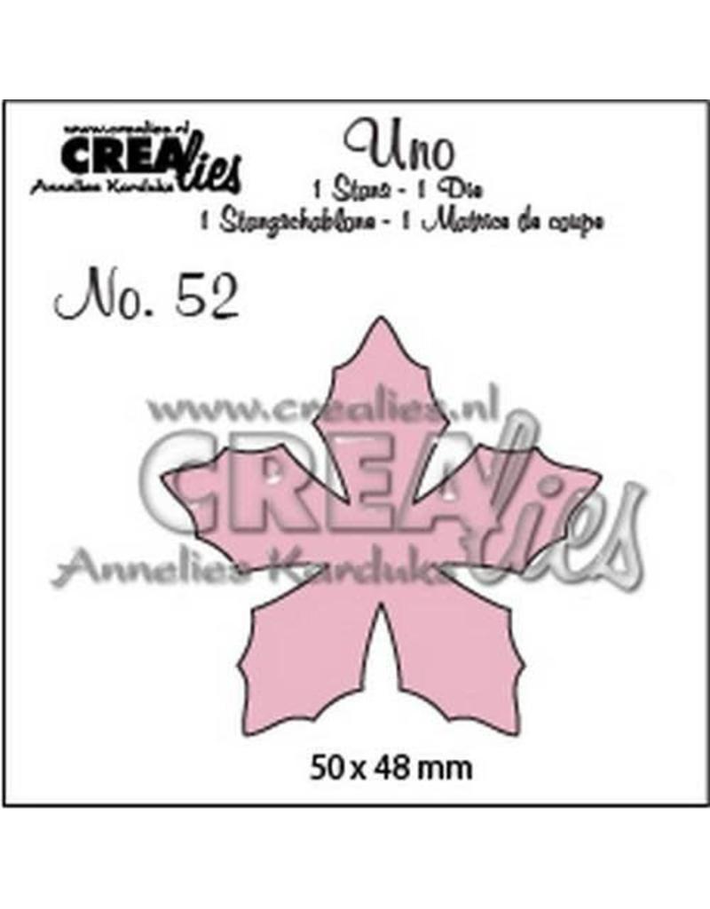 Crealies Uno nr. 52 bloemen 23 CLUno52 50 x 48 mm