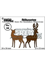Crealies Silhouetzz no. 04 2 hertjes CLSH 04 29 x 39 mm - 27 x 53 mm