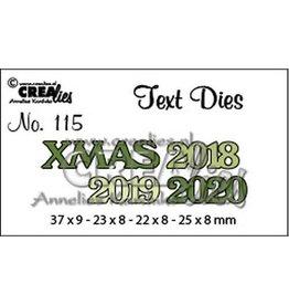Crealies Text Dies XMAS 2018 2019 2020 CLTD 37 X 9 - 22 x 8 - 25 x 8 mm
