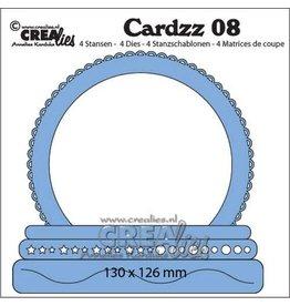 CrealiesCardzz no 08 Sneeuwbol CLCZ08 130 x 126 mm