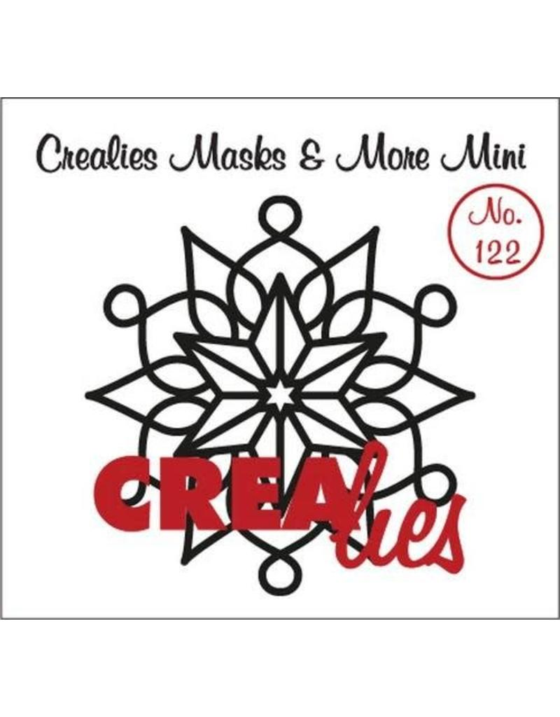 Crealies Masks & More Mini no. 122 sneeuwvlok A CLMMM122 105 x 108 mm