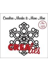 Crealies Masks & More Mini no. 123 sneeuwvlok B CLMMM123 92 x 105 mm