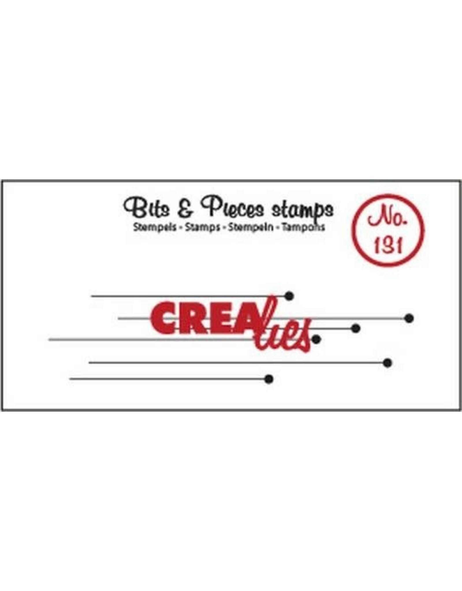 Crealies Clearstamp Bits & Pieces hangende rondjes CLBP131 20 x 80 mm