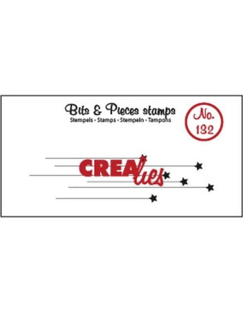 Crealies Clearstamp Bits & Pieces hangende sterretjes CLBP132 20 x 76 mm