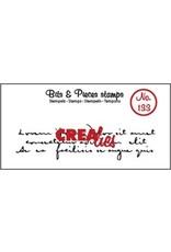 Crealies Clearstamp Bits & Pieces oud handschrift 3 regels CLBP133 82 x 21 mm