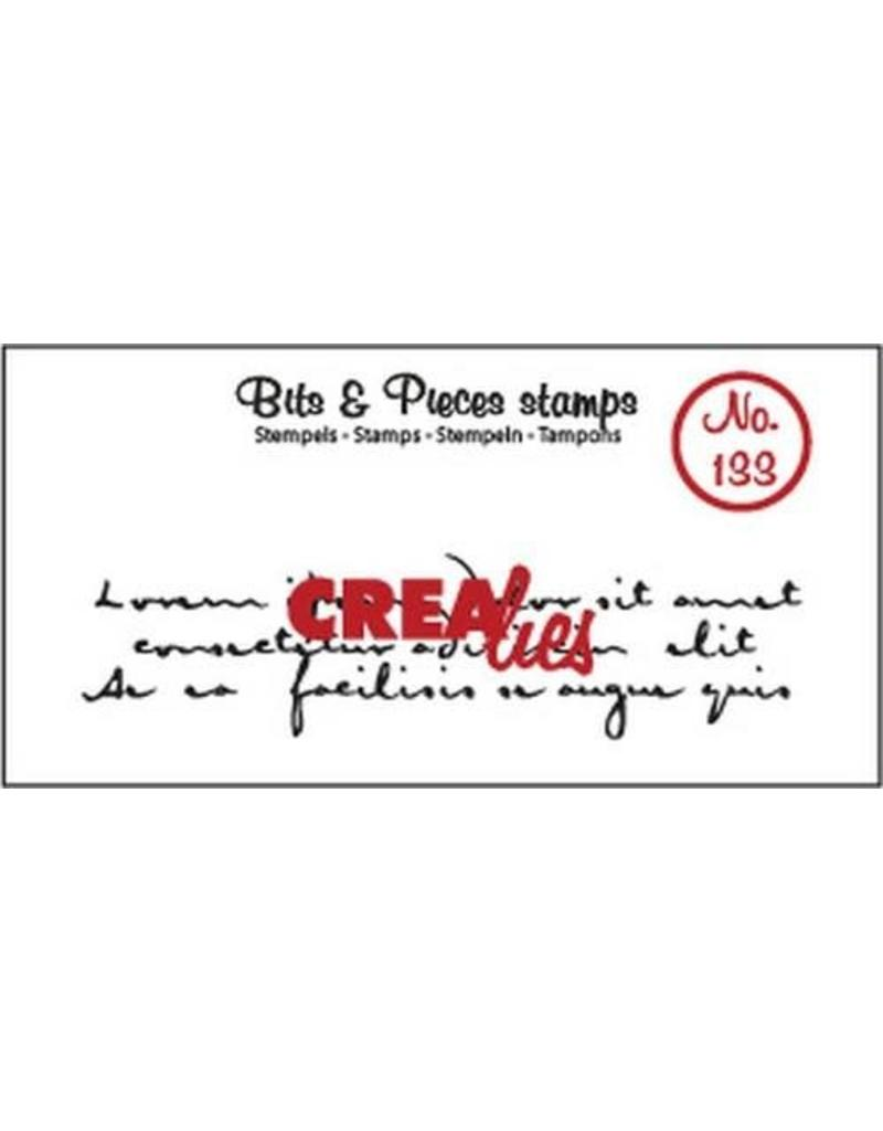Crealies Crealies Clearstamp Bits & Pieces oud handschrift 3 regels CLBP133 82 x 21 mm