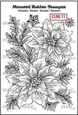 Crealies Mounted Rubber Stampzz no. 11 poinsettia CLRS11 94 x 65 mm