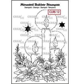 Crealies Crealies Mounted Rubber Stampzz no. 12 kaarsen CLRS12 93 x 68 mm