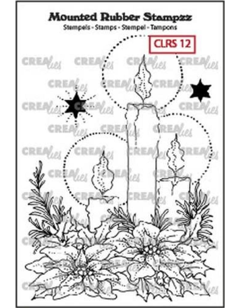 Crealies Crealies Mounted Rubber Stampzz no. 12 kaarsen CLRS12 93 x 68 mm