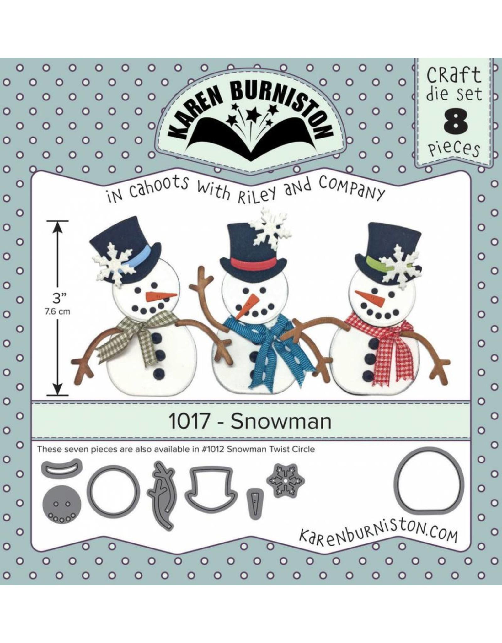 Karen Burniston Karen Burniston Snowman 1017