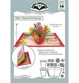 Karen Burniston Karen Burniston Flower pot pop up die set 1010