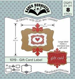Karen Burniston Karen Burniston Gift card label 1019