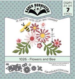 Karen Burniston Karen Burniston Flowers and Bee 1026