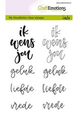 Craft Emotions CraftEmotions clearstamps A6 - handletter - ik wens jou geluk..(NL)