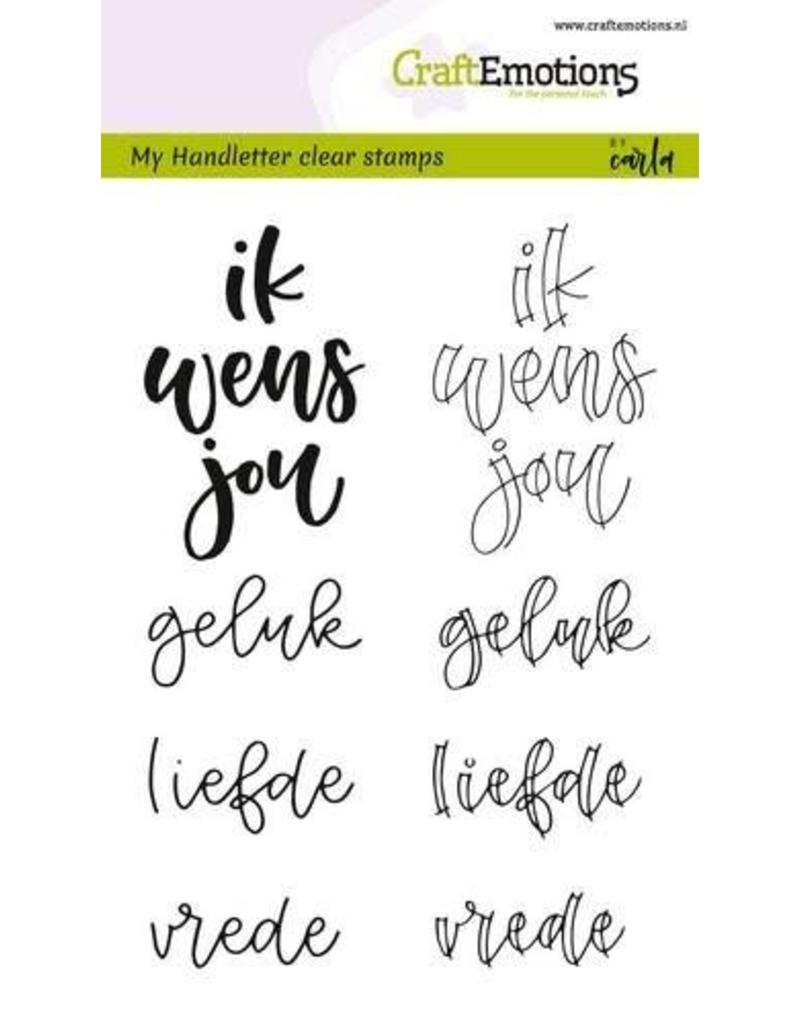 CraftEmotions clearstamps A6 - handletter - ik wens jou geluk..(NL)