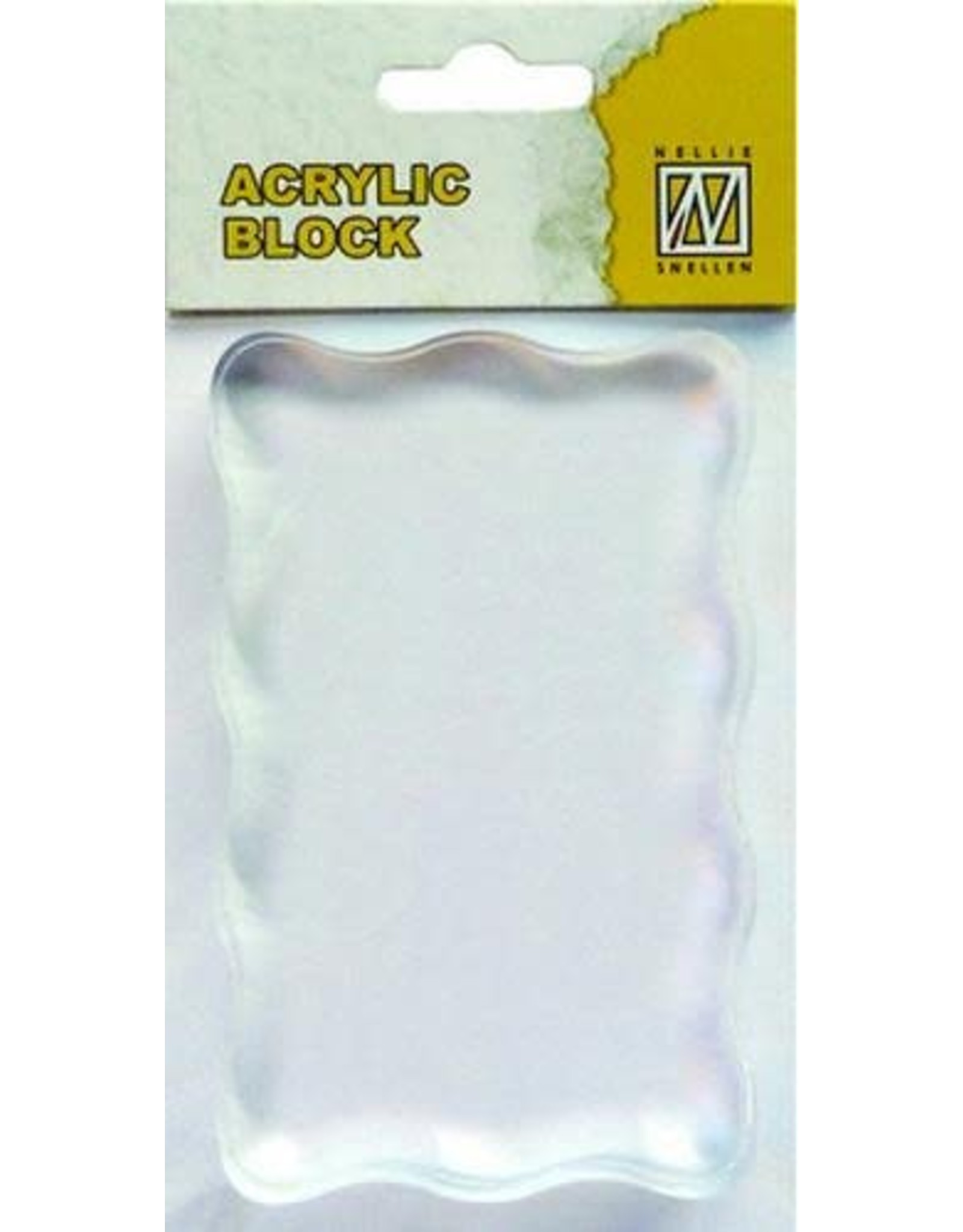 Nellie's Choice Nellie`s Choice acrylic stamping bloc 50x80x8mm AB005