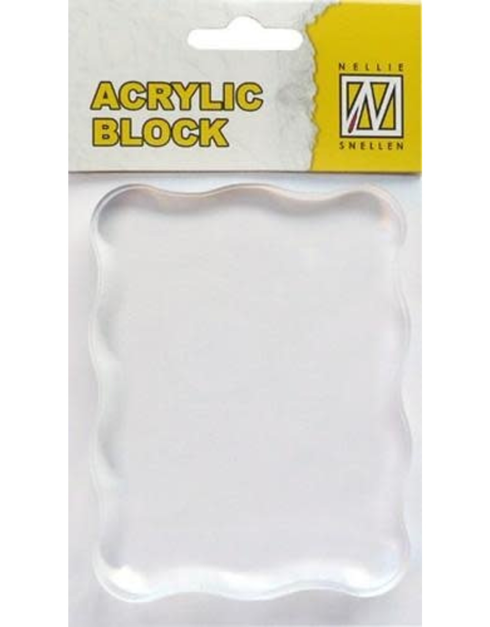 Nellie's Choice Nellie`s Choice acrylic stamping bloc 70x90x8mm AB006