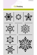 CraftEmotions Mask stencil - ijskristallen A5 Christmas Nature