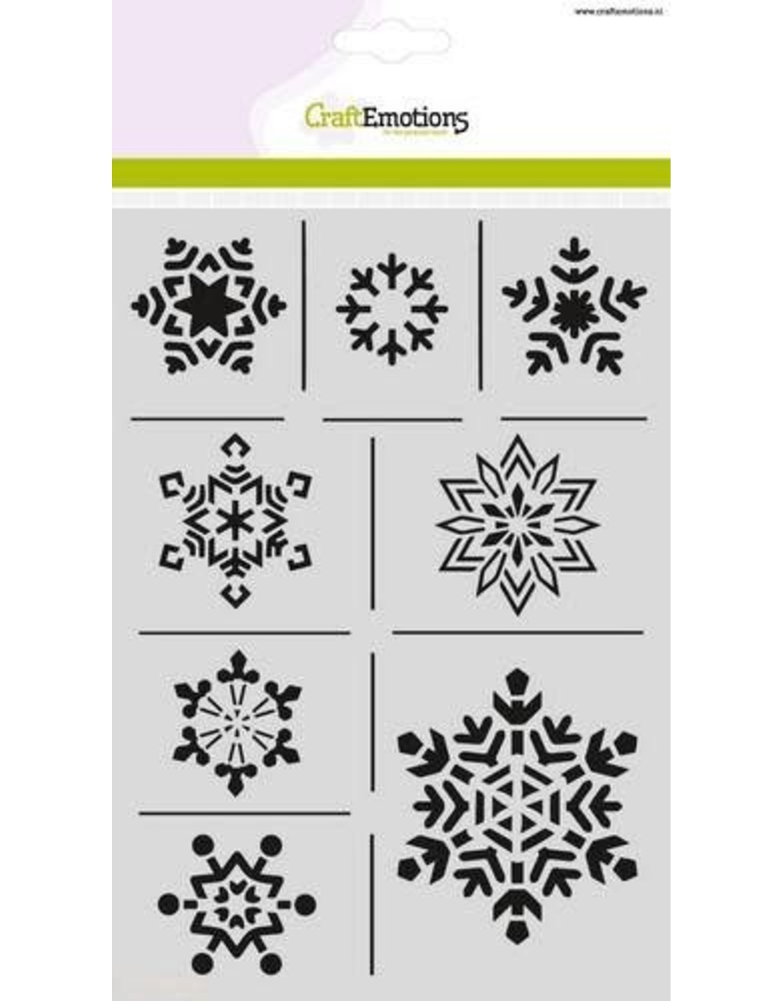 Craft Emotions CraftEmotions Mask stencil - ijskristallen A5 Christmas Nature