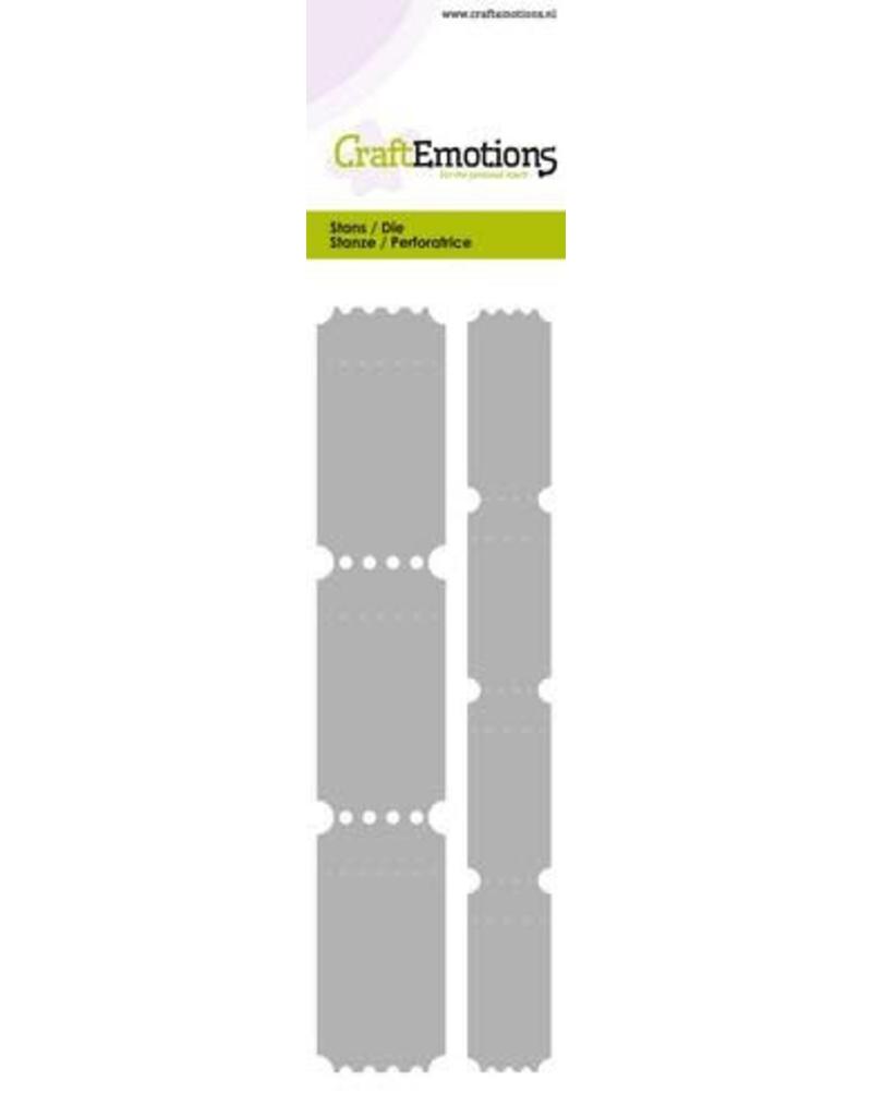 CraftEmotions Die - Cutting border - 2 ticket strips Card 5,0x21,5cm