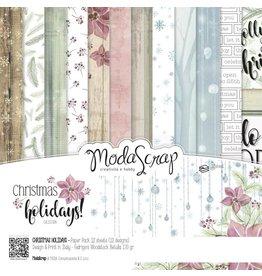 Elizabeth Crafts Design Papier Christmas Holidays 30,5 x 30,5