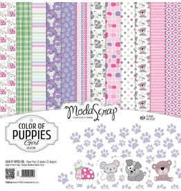 Elizabeth Craft Designs Elizabeth Craft Designs Papier Color of Puppies girl 15 x 15