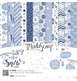 Elizabeth Crafts Design Papier Let it snow 15 x15