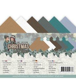 Craft Emotions Linnenpakket - 4K - Amy Design - Christmas Wishes