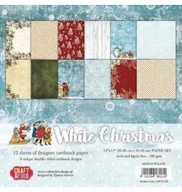 Craft&You white Christmas BIG Paper Set 12x12 12 ve